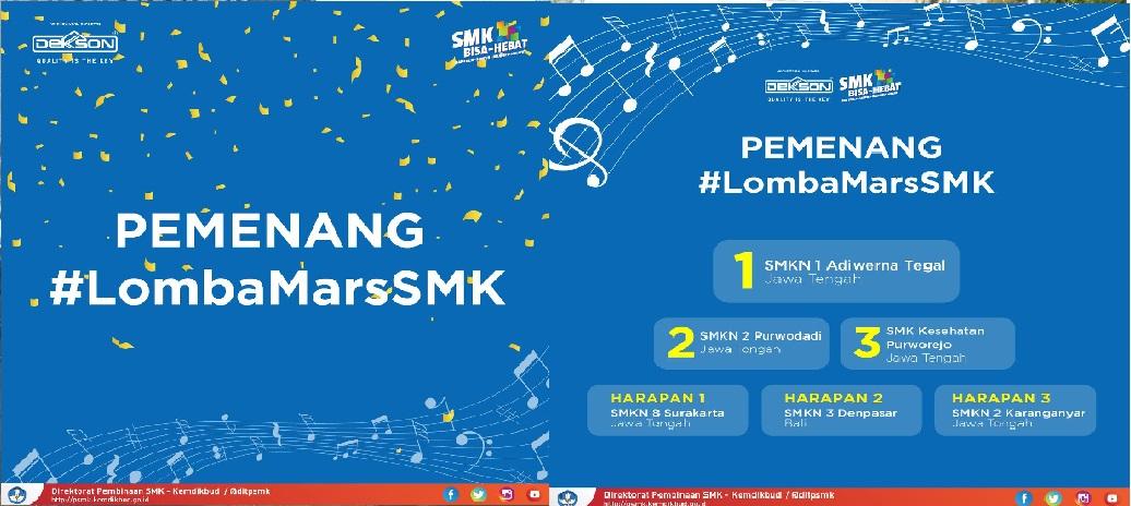 MEMBANGGAKAN!! SMKN 1 Adiwerna Juara 1 Cipta Lagu Mars SMK Nasional 2018